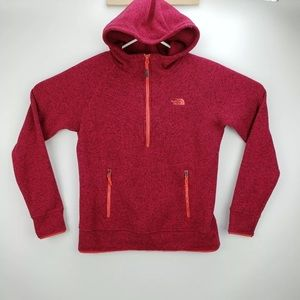 The North Face Half Zip Knit Hooded Fleece Size M
